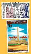 1709  ~  1976-77  BENIN  N°  PA 257 + 285** - Bénin – Dahomey (1960-...)