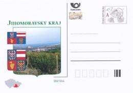Czech Rep. / Postal Stat. (New2016/a11) Regions CR - South Moravian Region (Moravian Countryside - Vineyards), Grapes - Landwirtschaft