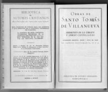 1 Libro Obras Santo Tomas De Villanueva 1952 Espana Graficas Nebrija Madrid Pontificia Universidad Salamanca - Philosophy & Religion