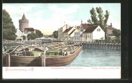 AK Brandenburg, Schleusenkanal Mit Dem Steinthorthurm - Brandenburg