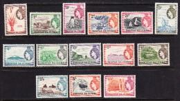 Tristan Da Cunha 1954-58 Mint Mounted, Sc# 14-27, SG 14-27 - Tristan Da Cunha