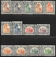 Nyassa, Scott # 26-38 Mint Hinged Set Giraffe, Camels, 1901 - Nyassaland