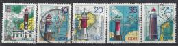 Germany (DDR) 1975  Leuchtturme (o) Mi.2045-2049 - [6] Democratic Republic