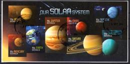 Australia 2015 Our Solar System Imperforate Minisheet Limited Edition Rare Used - Manual Postamarks - 2010-... Elizabeth II