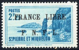 Langlade  2,25fr  Surchargé «France Libre/ F.N.F.L.»  Yv 269  * MH - Neufs