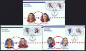 2000 National Hockey League  All Star Game Sc 1838a-f  From Souvenir Sheet On 3 FDCs - 1991-2000