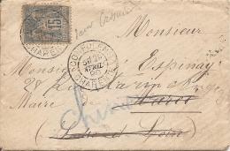 CHARENTE SAGE Sur LAC OBLI CONFOLENS Pour MARCE Puis CHINON - Postmark Collection (Covers)