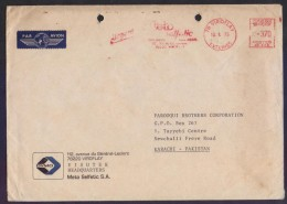FRANCE Postal History Big Cover Meter Franking With Slogan Mark, Used 10.1.1975 - Marcofilie (Brieven)
