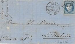 1873- Lettre De PASSY-LES-PARIS  Affr. N°60 Oblit. G C 2793 - Postmark Collection (Covers)