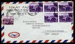 A4200) Türkei Turkey Luftpostbrief Von Istanbul 6.2.63 Nach Deutschland - 1921-... Republik