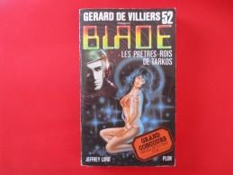 Livre Poche BLADE  N° 52 Les Pretres Roi De Tarkos - Gerard De Villiers