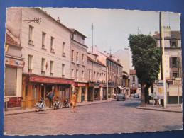 CPSM - ROSNY SOUS BOIS - CARREFOUR RICHARD GARDEBLED - CAFE DE L'EGLISE - Mobylette - Rosny Sous Bois