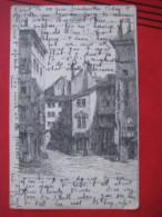 Geneve / Genf ?? (GE) - Künstlerkarte Ancienne Porte De La Monnaie - GE Ginevra