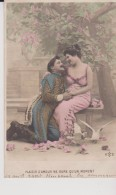 """FANTAISIE AUTRES    """" Couple  ( Plaisir D'amour Ne Dure Qu'un Moment ) """"  Precurseur AS N° - Autres"""