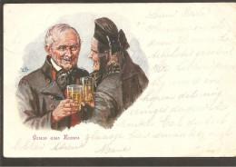 Hessen. Gruss Aus Hessen. Sign. Künstler Karte No. 103 - Allemagne
