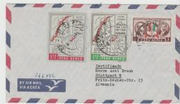 Per054 /  PERU - Einschreiben Nach Deutschland 1963 (Landkarte Etc. ) - Peru