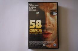 Cassette Video 58 MINUTES POUR VIVRE - Action, Aventure