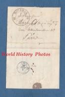 Enveloppe Ancienne Avec Courrier De 1839 - Cachet De DOURDAN & Cachet Bleu PARIS Au Verso - Voir Correspondance - 1849-1850 Ceres