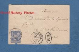 Enveloppe Ancienne - 1877 - Cachet Gare D' Angers Et Cachet De Pellouailles-les-Vignes - BM - 1876-1878 Sage (Type I)