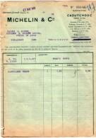 VP5423 - Facture - MICHELIN & Cie à CLERMONT FERRAND - Cars