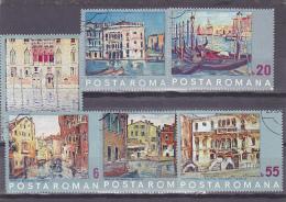 # 174  PAINTING , VENICE, ITALY , 1972, Mi 3053/59 USED STAMPS, FULL SET , ROMANIA - 1948-.... Repubbliche