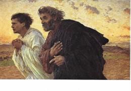 Eugène Burnand - Les Disciples Pierre Et Jean Courant Au Sépulcre - Paintings