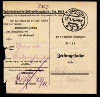 A4207) DR Infla Zeitungssache Von Darmstadt 22.11.23 - Deutschland