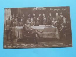 Groep OFFICIEREN + Kronprinz / Kaiser .................( 5090 ) Anno 19?? ( Zie Foto Voor Details ) !! - Personen