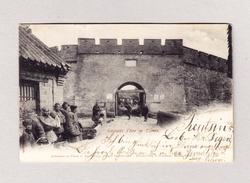 AK CHINA TSIMO Grosses Tor Ges. Tientsin 3.9.1902 Foto Goldiner Berlin - Chine