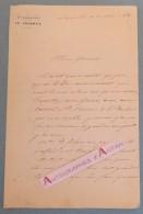 L.A.S 1853 Colonel ROBINET DE PLAS > Général RENAULT Régiment 6è DRAGONS Lunéville Lettre Autographe Boensch Noblesse - Autographes