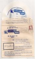 MARIANNE DECARIS SUR ENVELOPPE PUB FROMAGE GROS JEAN LONS LE SAUNIER / DISQUE OH QUELLE NUIT SACHA DISTEL - 1961-....