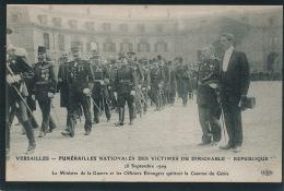 """AVIATION - VERSAILLES - FUNERAILLES NATIONALES DES VICTIMES DU DIRIGEABLE """"REPUBLIQUE """" 28 SEPT. 1909 - Ministre De La G - Dirigeables"""