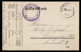 A4211) DR Feldpostkarte Von KDFP No.101 9.1.1915 - Deutschland
