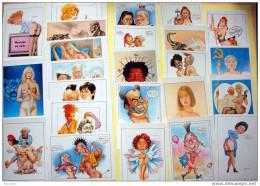 Lot De 24 Cartes De L´illustrateur Mustacchi De Perpignan à MOINS 80% De La Cote - Postcards