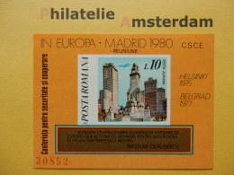 Romania 1980, EUROPA OSCE: Mi 3746, Bl. 175, ** - Europese Gedachte