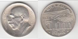 QUALITE **** BRESIL - BRAZIL - 5000 REIS 1936 SANTOS DUMONT - ARGENT - SILVER **** EN ACHAT IMMEDIAT - Brésil