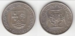 **** MOZAMBIQUE - PORTUGAL - 5 ESCUDOS 1935 - ARGENT - SILVER **** EN ACHAT IMMEDIAT !!! - Mozambique
