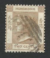 Hong Kong, 2 C. 1865, Sc # 8, Mi # 8, Used - Hong Kong (...-1997)