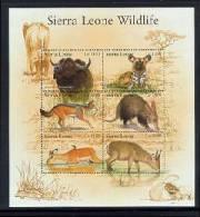 SIERRA LEONE  2540  MINT NEVER HINGED MINI SHEET OF WILDLIFE & ANIMALS   # M-1126-3  ( - Postzegels