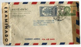 MEXICO CORREO AÉREO. 1944 . CARTA COMERCIAL VOLADA DESDE MEXICO A COLOMBIA. - Mexique