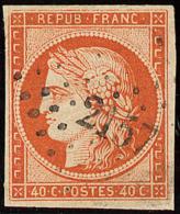 No 5, Nuance Foncée, Obl Pc 2157. - TB - 1849-1850 Ceres