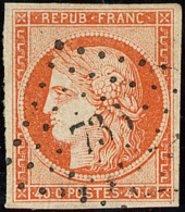 No 5, Obl Pc 736, Nuance Foncée. - TB - 1849-1850 Ceres