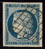No 4c, Obl Grille, Un Voisin, Ex Choisi. - TB - 1849-1850 Ceres