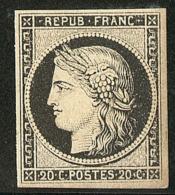 No 3a, Froissure De Gomme Sinon TB - 1849-1850 Ceres