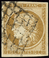 No 1c, Obl Grille. - TB - 1849-1850 Ceres