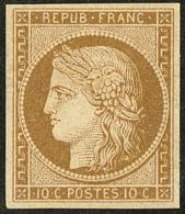 No 1b, Bistre-brun, Très Frais. - TB. - R - 1849-1850 Ceres