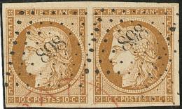 No 1a, Paire Horizontale Obl Pc 898. - TB - 1849-1850 Ceres