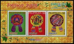 Philippines 2015 - Arbres De Noël, Dessins D'enfants, Noël 2015 - BF Neufs // Mnh - Philippines