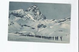 VALTOURNENCHE 119 ALPINS EN EXCURSION D'HIVER AU BREUIL - Italien