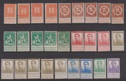 BELGIQUE - 1912 - LOT DIVERS - * - Lion Debout Et Effigie De S.M. Le Roi Albert I. - Valeur 37€. - 1912 Pellens
